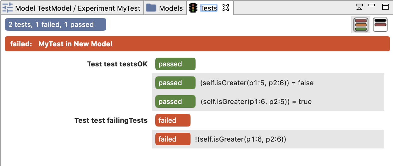 Interface for unit tests execution.