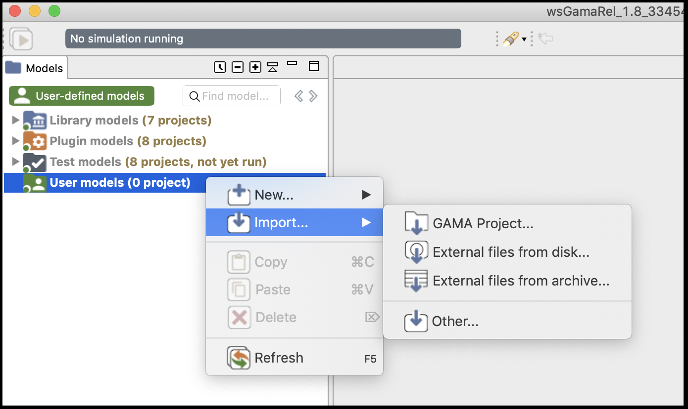 Import a Gama project